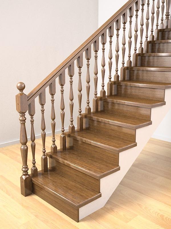 Крепление балясин деревянных лестниц: способы установки